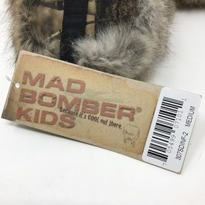 a1ffd32ff0b8f8 mad bomber Accessories - Mad Bomber Kids Hunting Trapper Hat Camo Real Fur